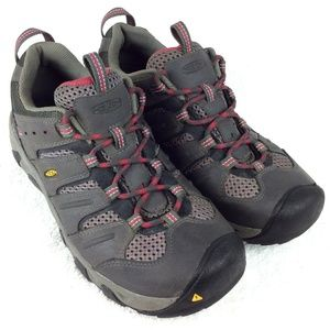KEEN Women's :KOVEN: Hiking Shoes 10M Gray Leather
